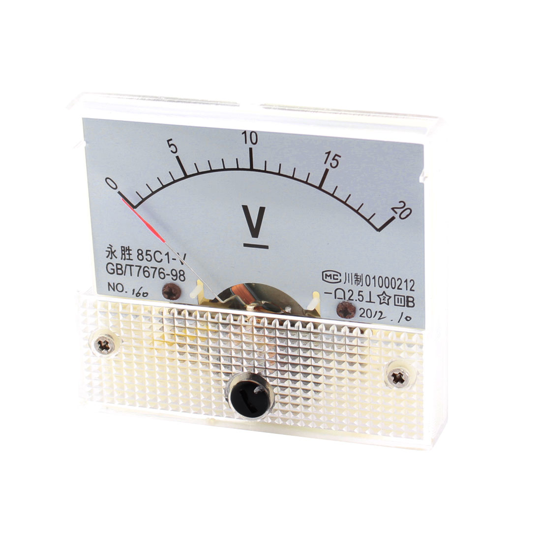 Class 2.5 DC 0-20V Range Analog Voltage Voltmeter Panel Meter 85C1