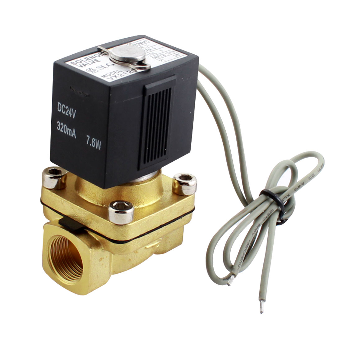 AC 220V 3/8 PT 2 Port 2 Position NC Electric Solenoid Valve