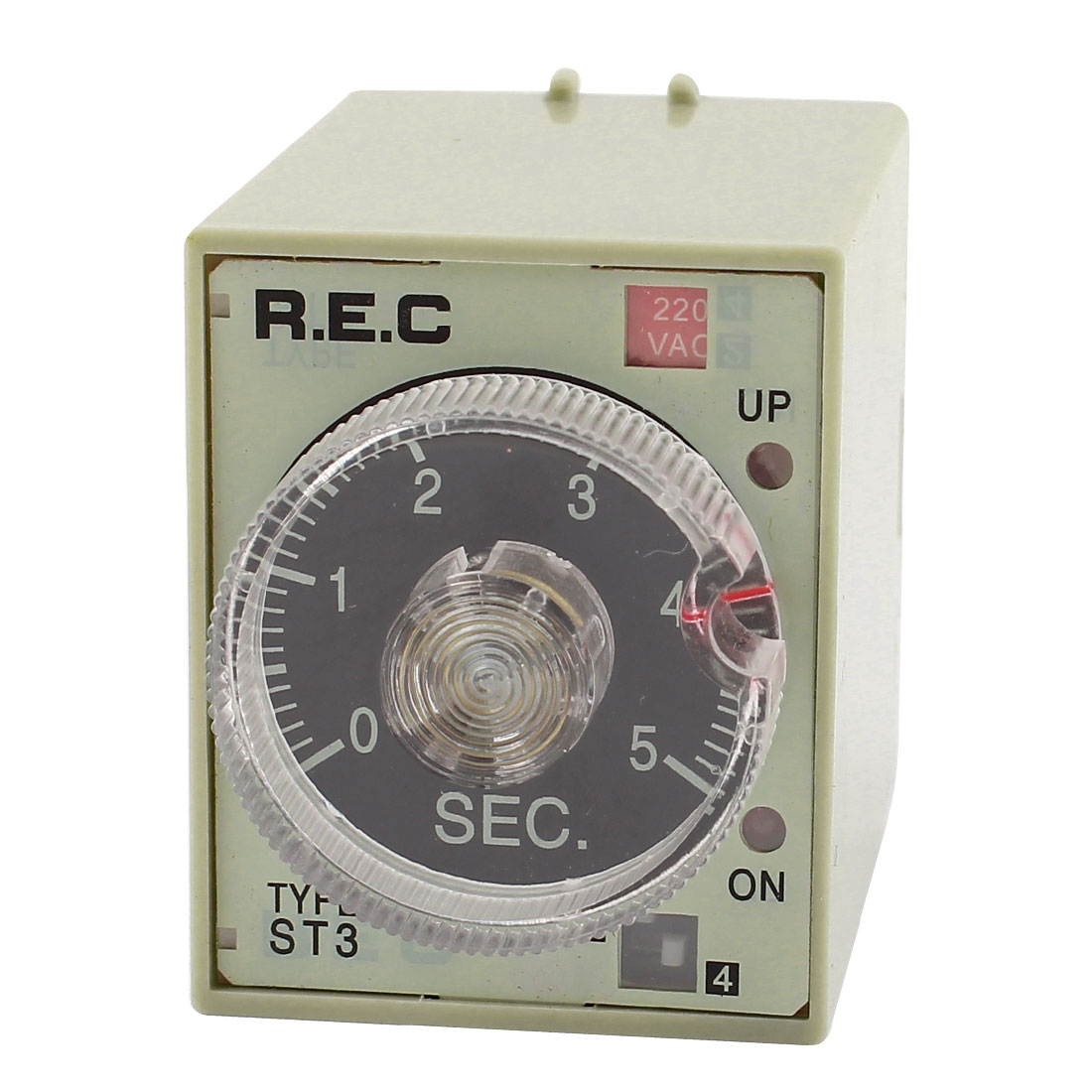 AC 220V 8Pins 0-5 Seconds Double Pole Dual Throw IC Timer Relay ST3PA-A