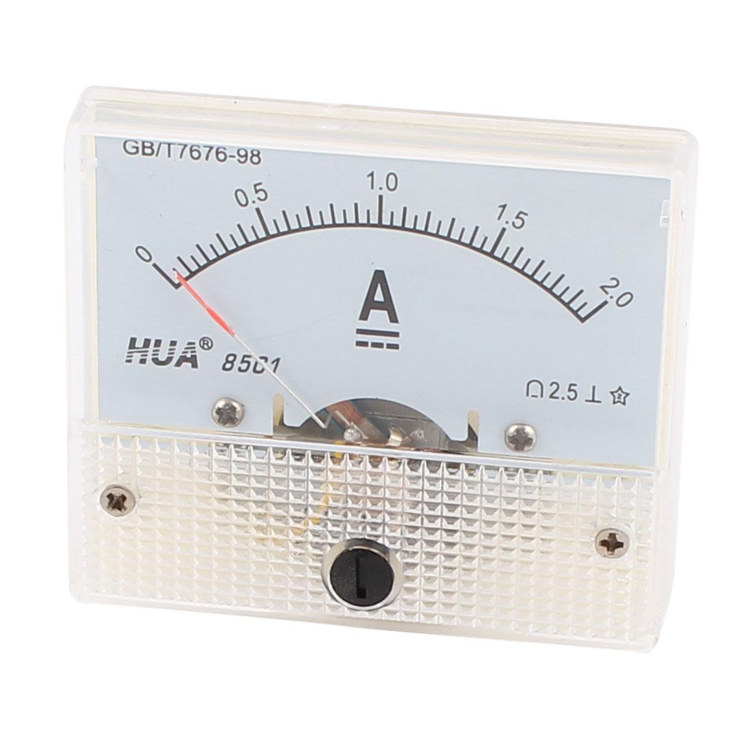 85C1 Panel DC Current Ampere Meter Analog Ammeter 0-2A