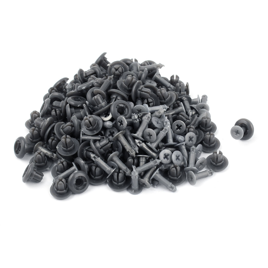 100 Pcs Car Interior Panel Trim Clips Plastic Rivet Gray 10mm Hole