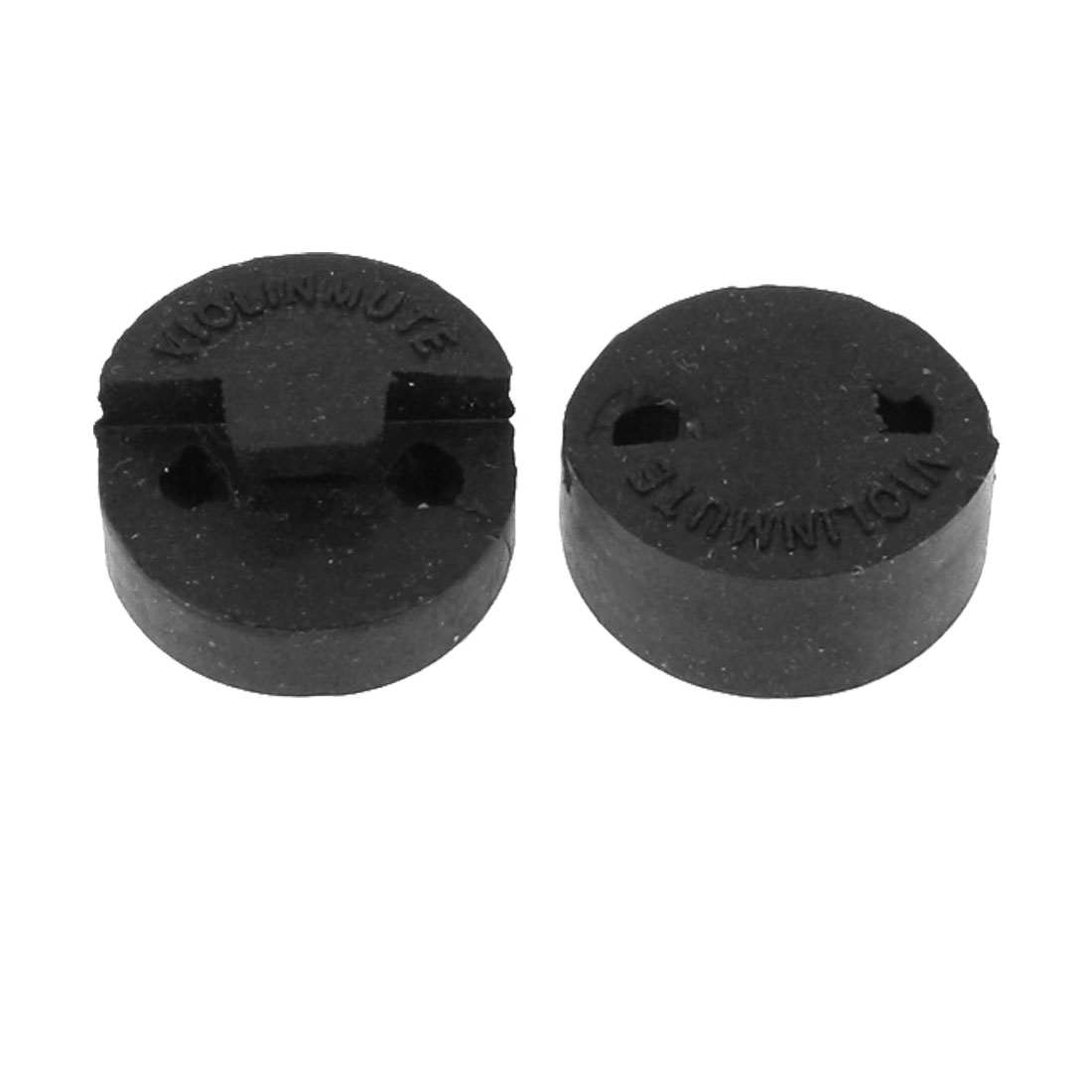 2pcs Violin Mute Replacing Part 2 Hole Tourte Black Rubber Sordine