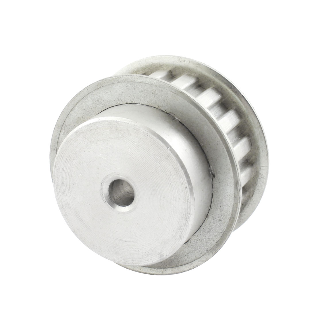 Aluminum Alloy 18 Teeth 8mm Bore Dia Double Flanged Motor Drive Synchronous Timing Pulley