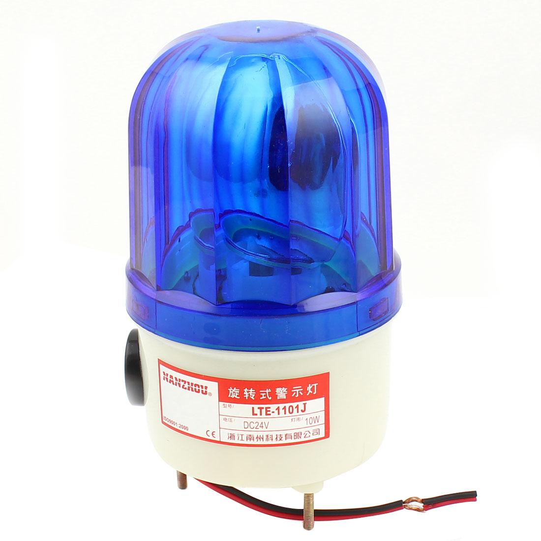 LTE-1101J DC 24V 10W Industrial Blue Rotator Rotary Lamp Warning Light Beacon