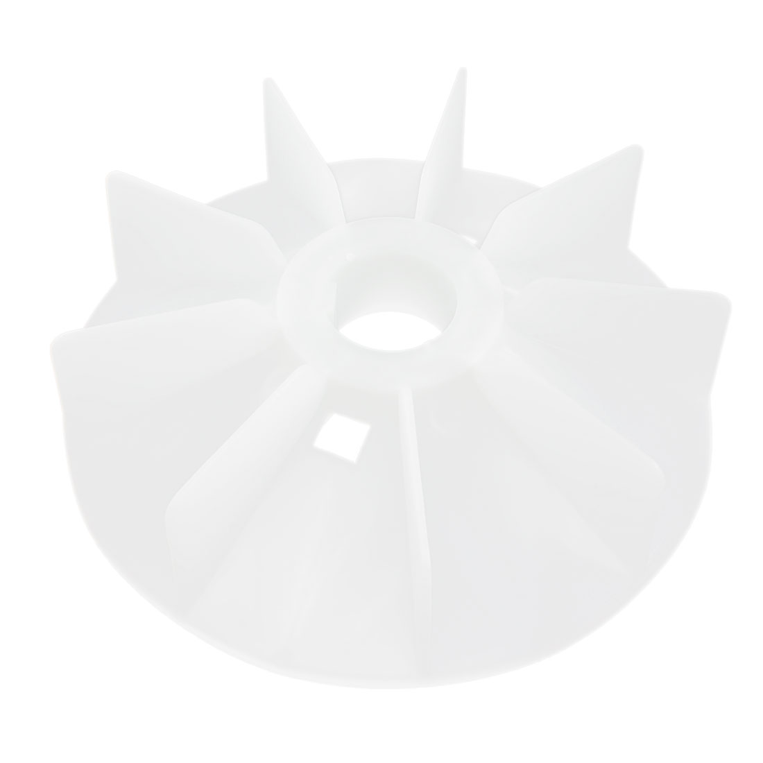 8-Vane 58mm Shaft Hole Dia Plastic Impeller Motor Cooling Fan Vane