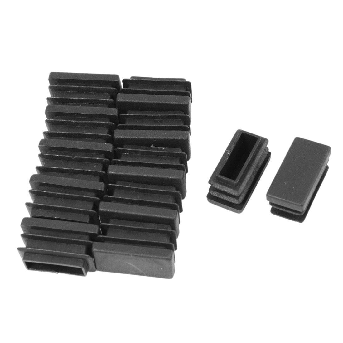 12 Pcs 13mm x 26mm Plastic Blanking End Caps Rectangle Tubing Tube Pipe Insert