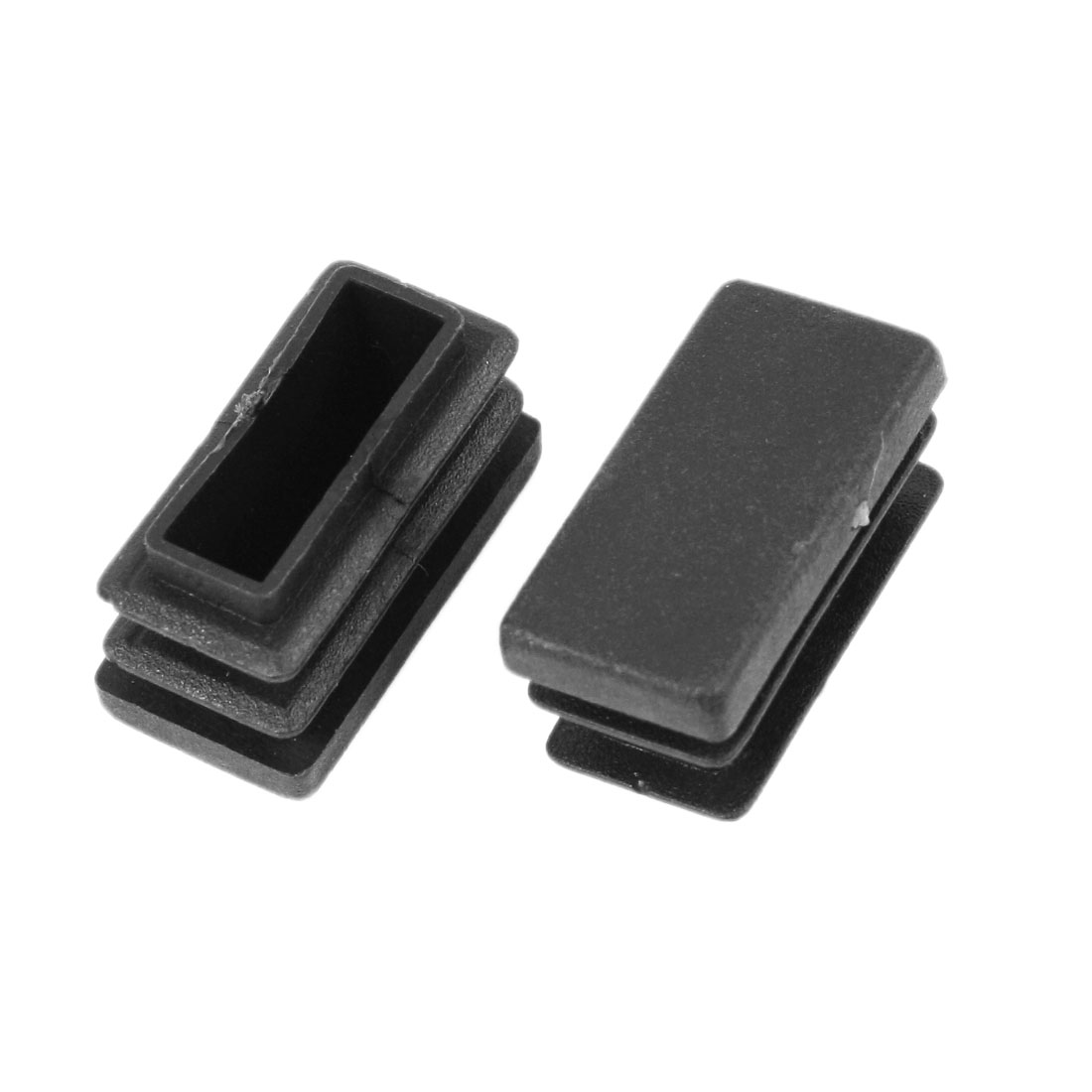 2 Pieces 13mm x 26mm Plastic Blanking End Caps Rectangle Tubing Tube Pipe Insert
