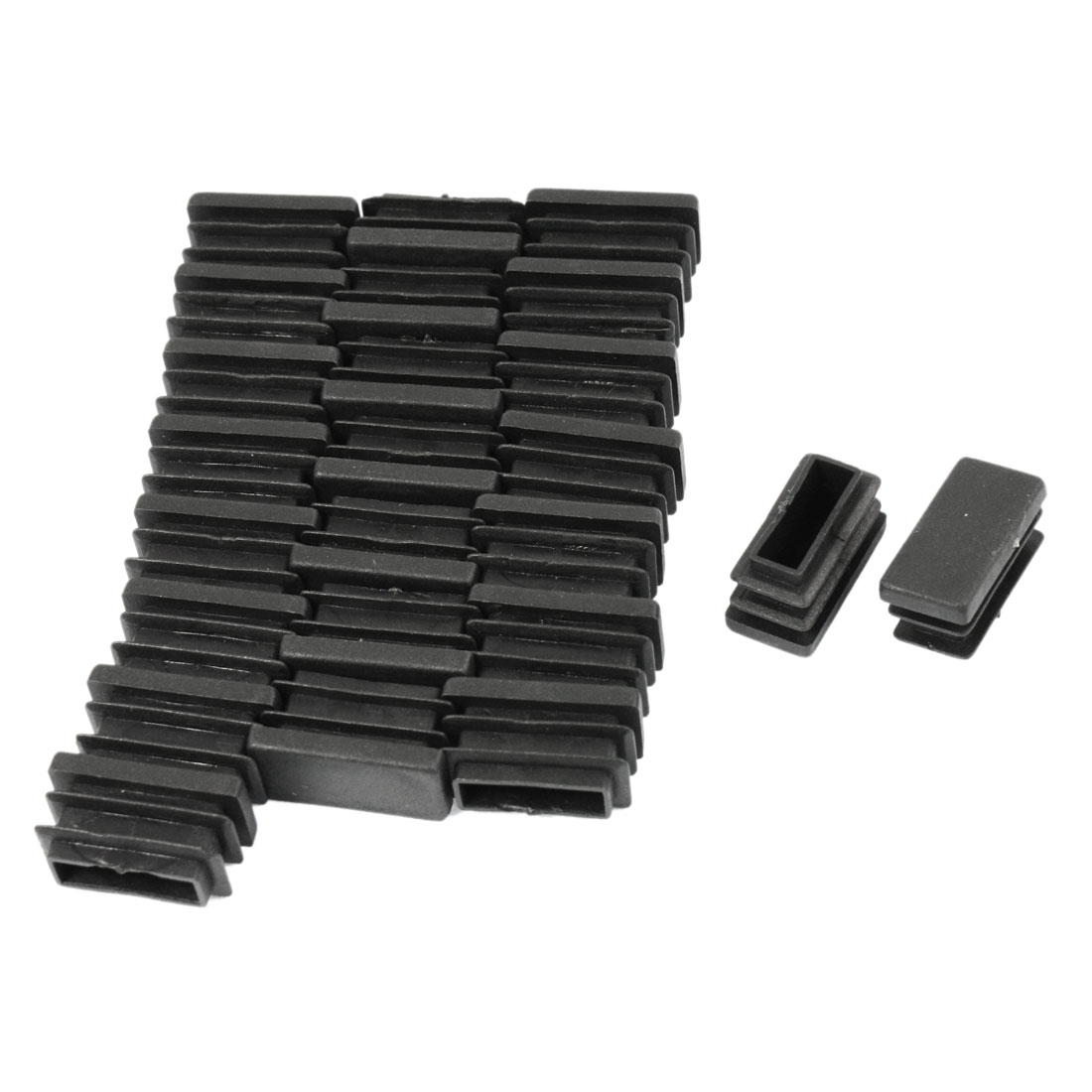 24 Pcs 13mm x 26mm Plastic Blanking End Caps Rectangle Tubing Tube Pipe Insert