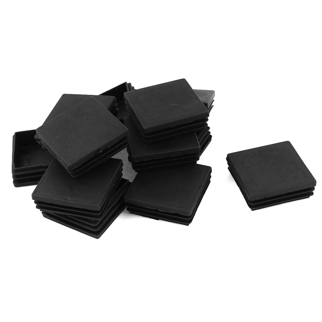 12 Pcs Black Plastic Square Blanking End Caps Tubing Tube Inserts 60mm x 60mm