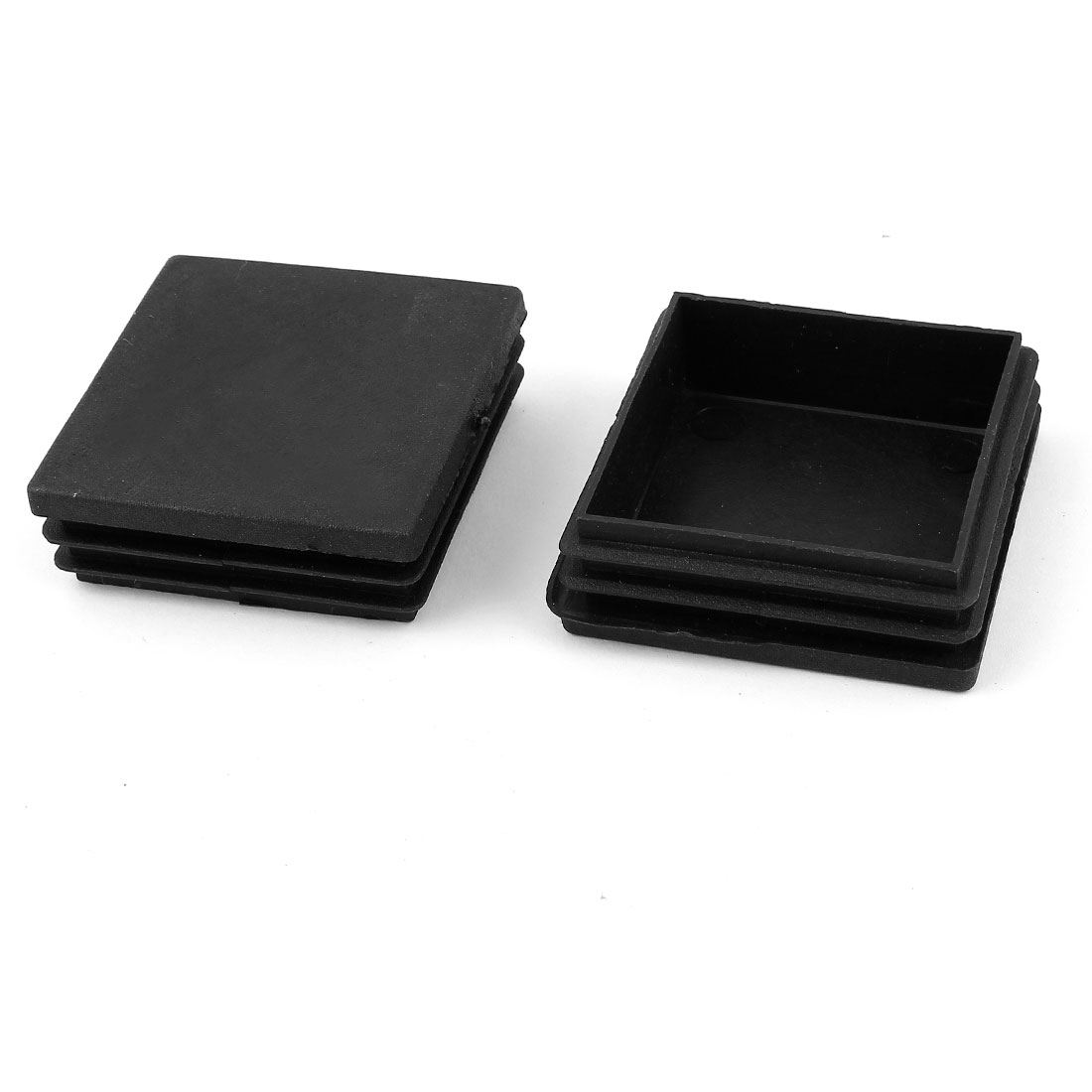 2 Pieces Black Plastic Square Blanking End Caps Tubing Tube Cover Inserts 60mm x 60mm