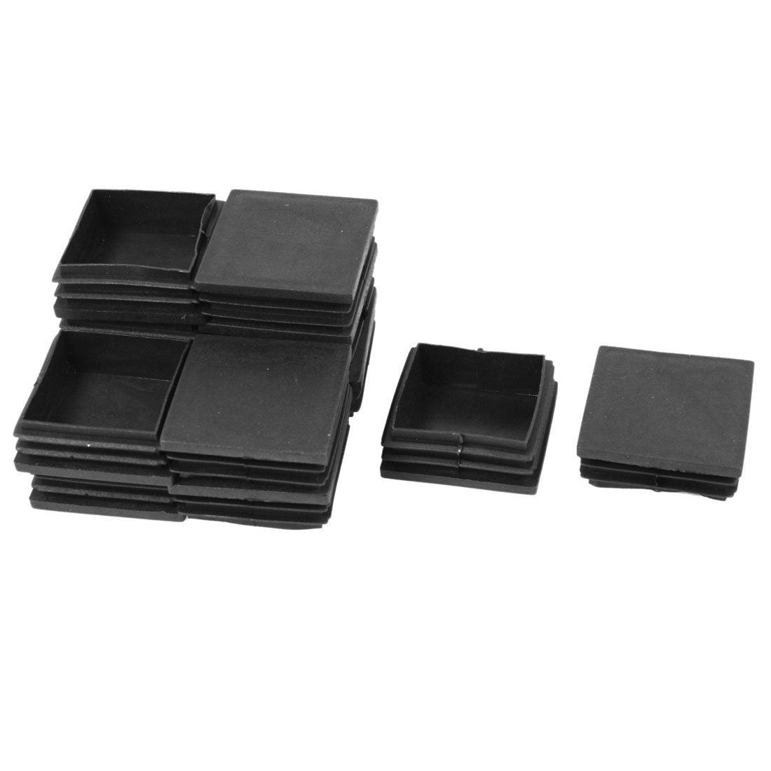 12 Pcs Black Plastic Square Blanking End Caps Tubing Tube Inserts 50mm x 50mm