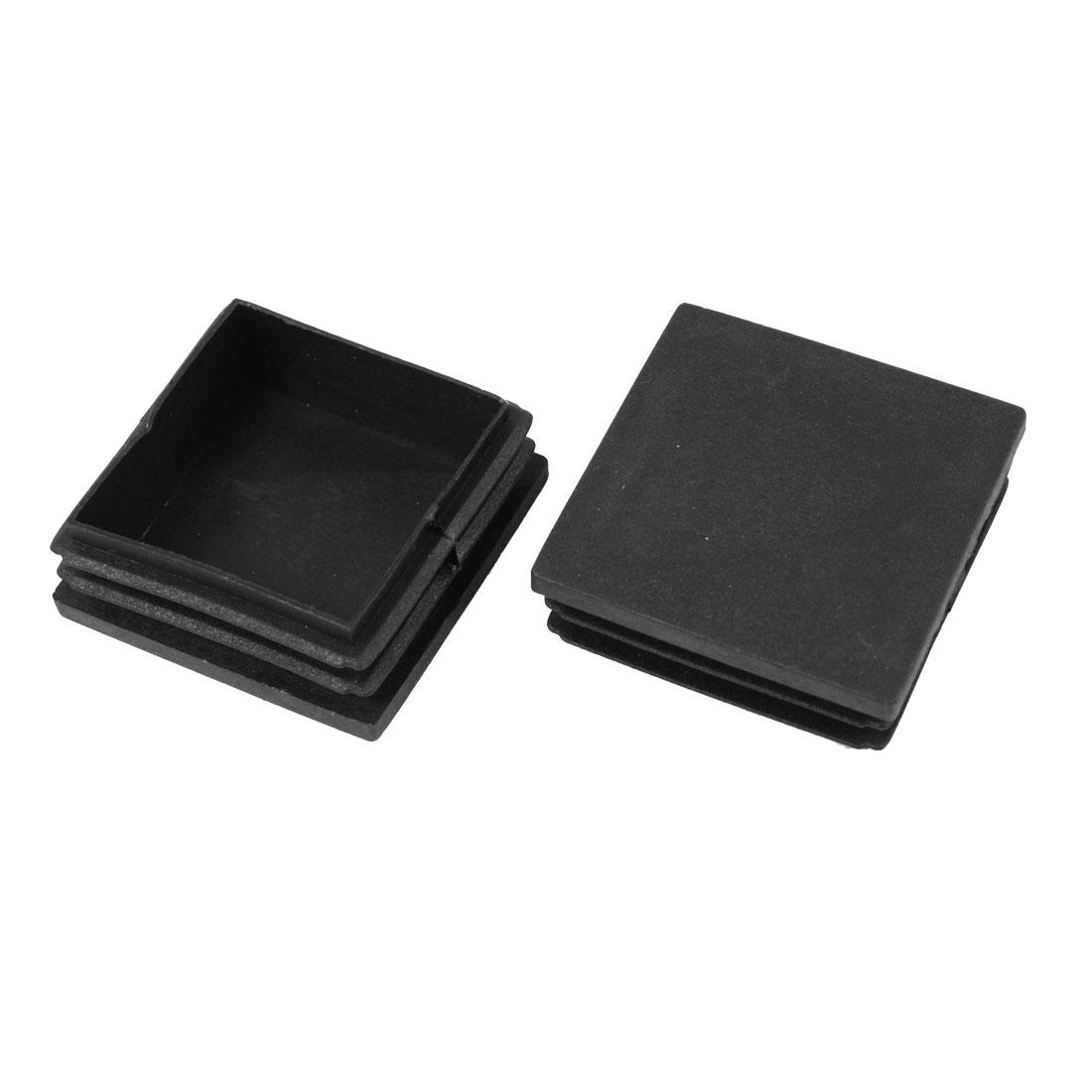2 Pieces Black Plastic Square Blanking End Caps Tubing Tube Inserts 50mm x 50mm