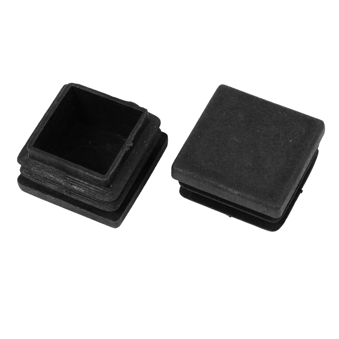 2 Pcs 28mm x 28mm Plastic Blanking End Caps Cover Square Tubing Tube Insert Black