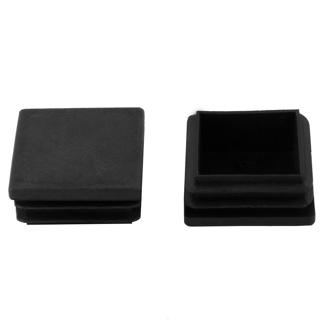 2 Pieces Black Plastic Square Blanking End Caps Tubing Tube Inserts 40mm x 40mm