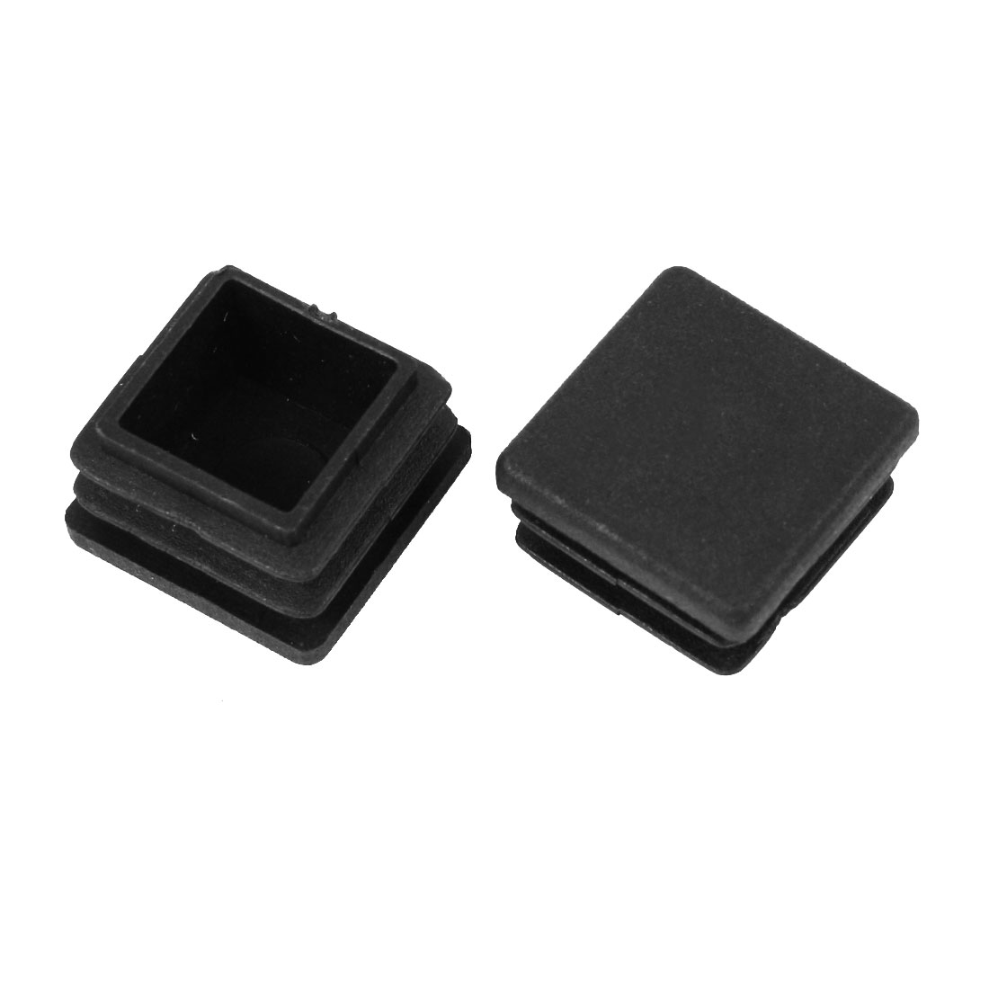 2 Pieces Black Plastic Square Blanking End Caps Tubing Tube Inserts 20mm x 20mm