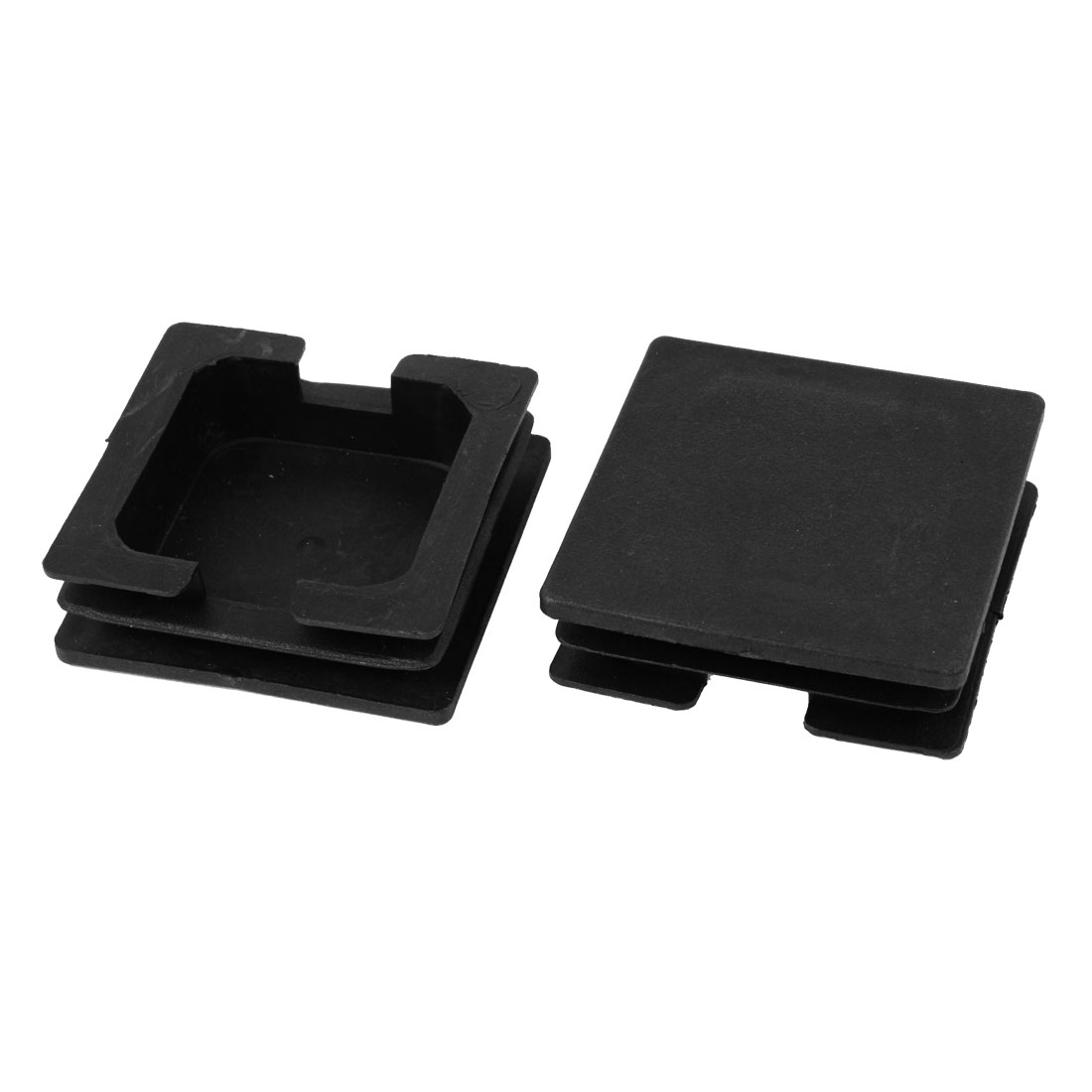 2 Pieces Black Plastic Square Blanking End Caps Tubing Tube Inserts 75mm x 75mm