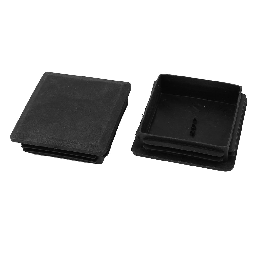 2 Pieces Black Plastic Square Blanking End Caps Tubing Tube Inserts 80mm x 80mm