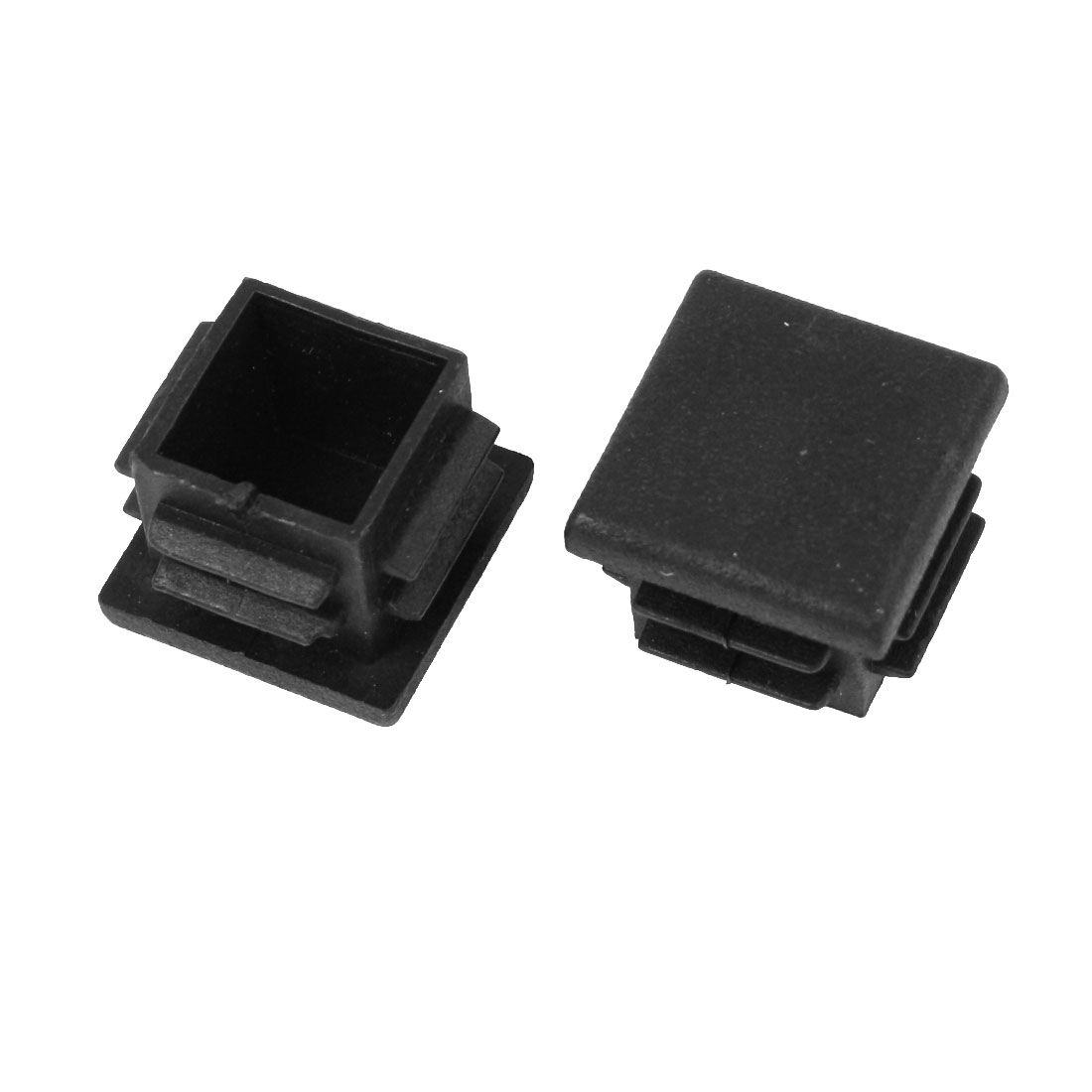 2 Pcs 19mm x 19mm Plastic Blanking End Caps Square Tubing Tube Insert Black