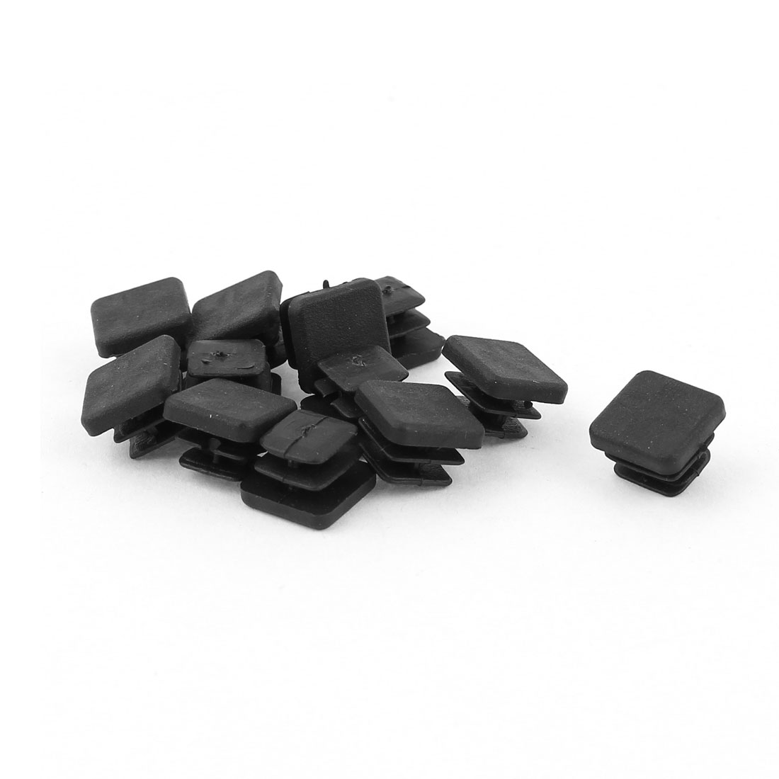 12 Pcs Black Plastic Square Blanking End Caps Tubing Tube Cover Inserts 10mm x 10mm