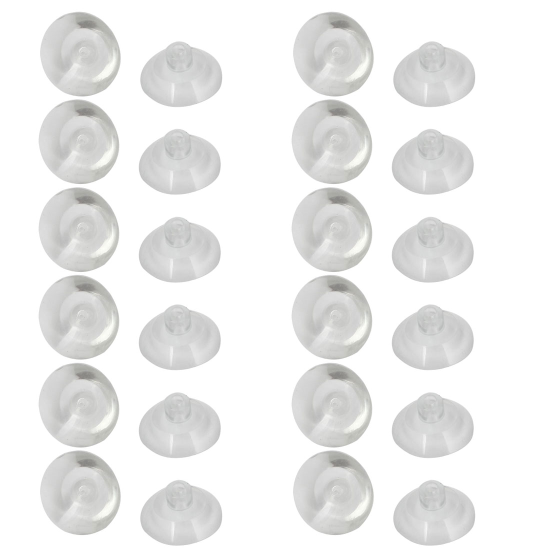 Household 20mm Diameter Clear Replacement Suction Cups 24Pcs