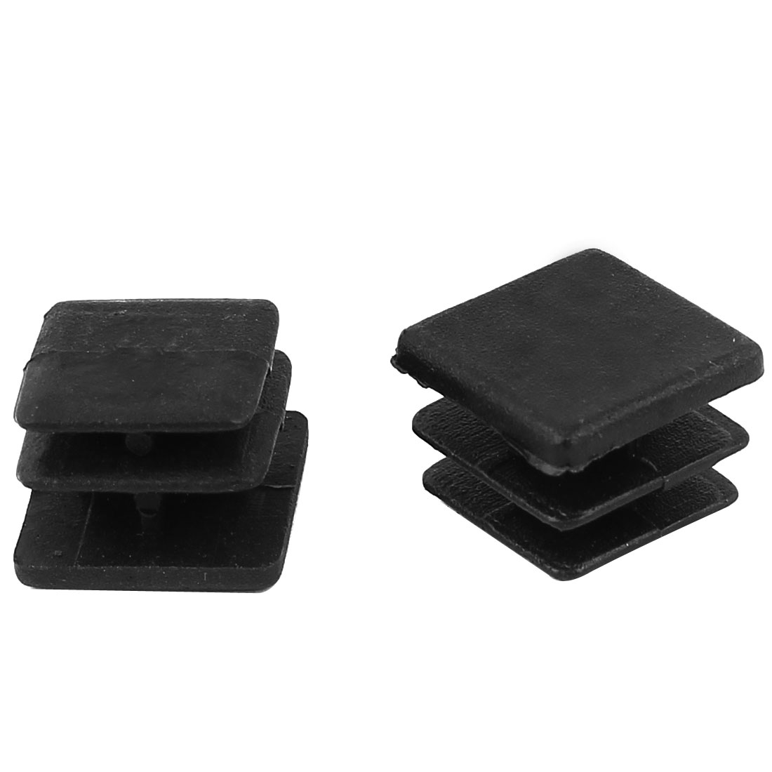 2 Pieces Black Plastic Square Blanking End Caps Tubing Tube Inserts 15mm x 15mm