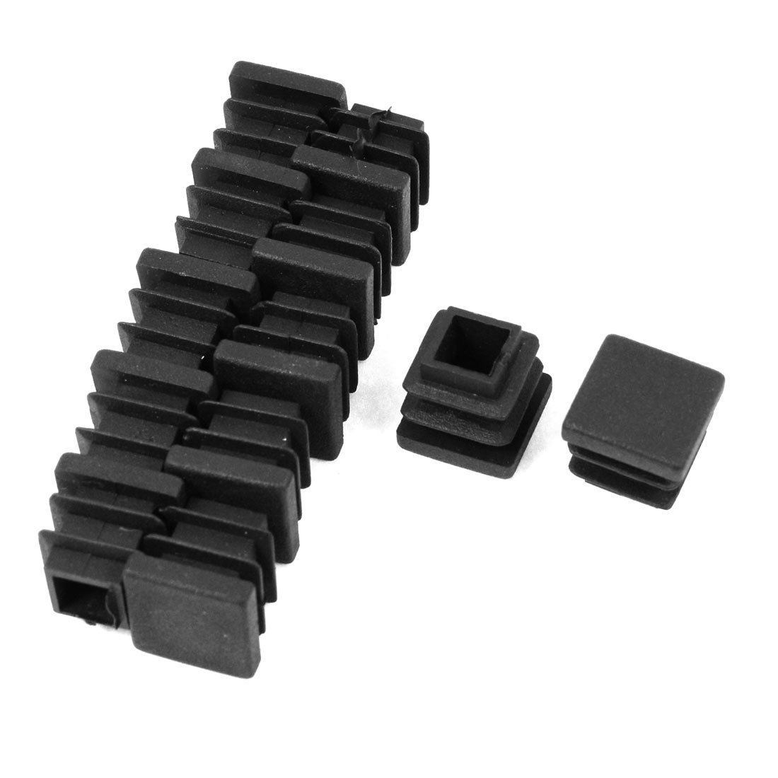 12 Pieces 16mm x 16mm Plastic Blanking End Caps Square Tubing Tube Pipe Insert