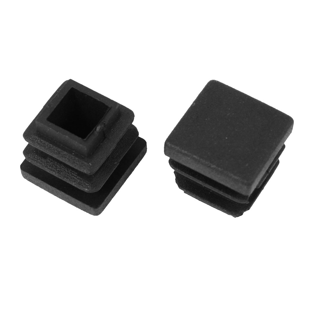 2 Pcs 16mm x 16mm Plastic Blanking End Caps Cover Square Tubing Tube Pipe Insert Black