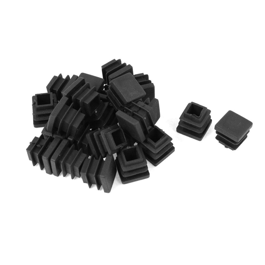 24 Pieces 16mm x 16mm Plastic Blanking End Caps Square Tubing Tube Pipe Insert