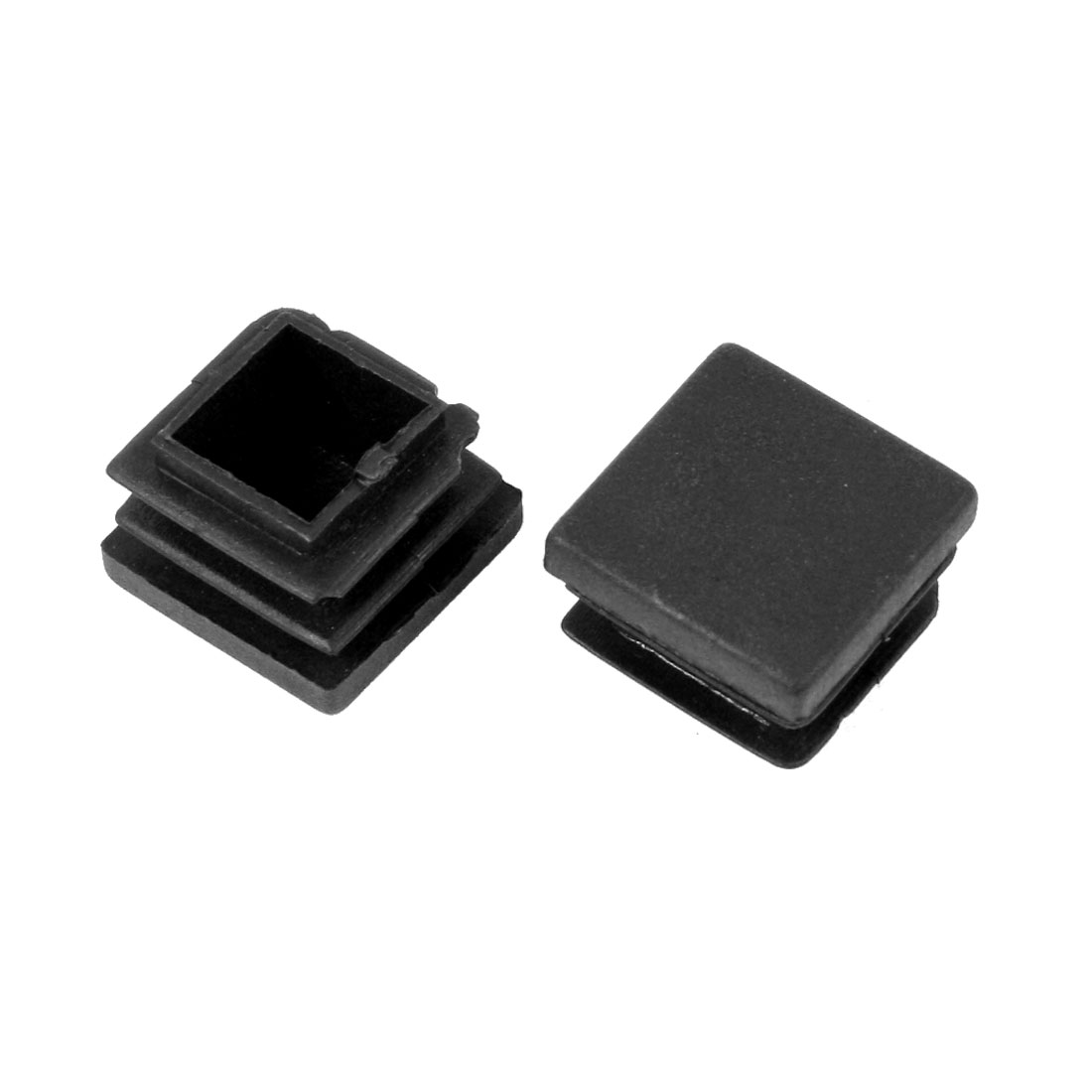 2 Pieces Black Plastic Square Blanking End Caps Tubing Tube Inserts 22mm x 22mm