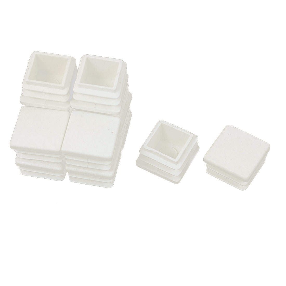 12 Pcs Plastic Square Blanking End Caps Tubing Tube Inserts 20mm x 20mm
