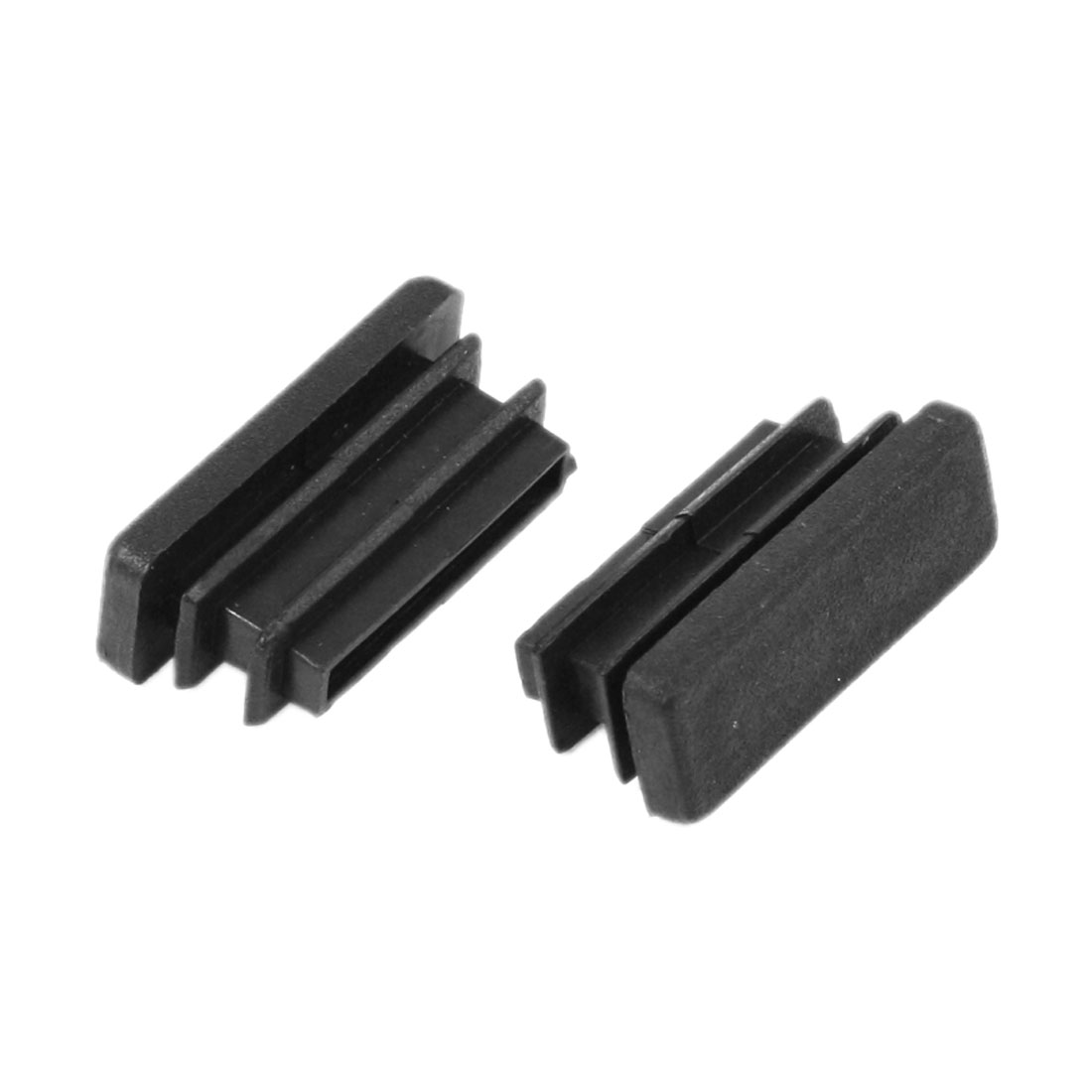 2 Pieces Black Plastic Square Blanking End Caps Tubing Tube Inserts 10mm x 30mm