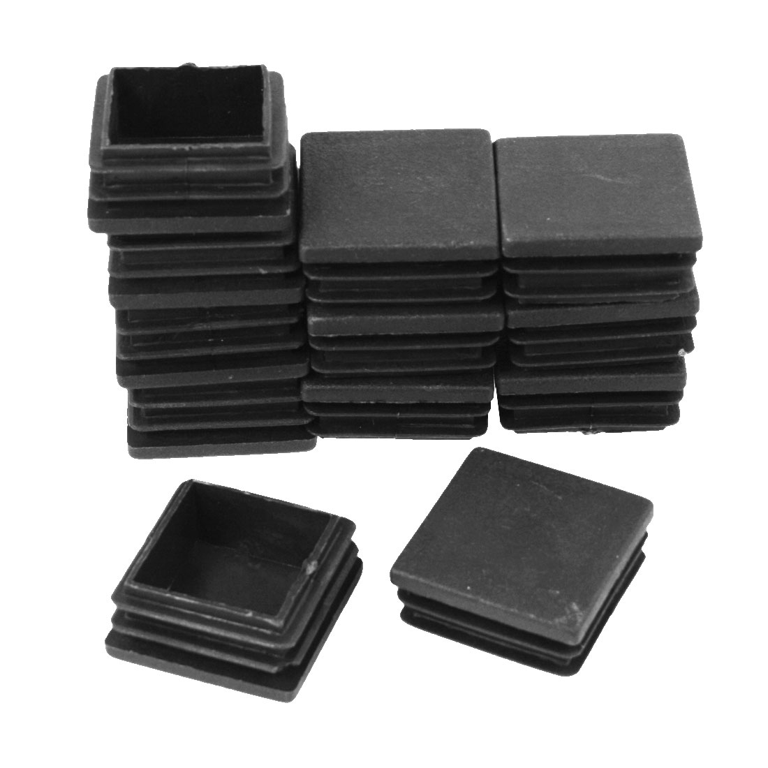 12 Pieces 38mm x 37mm Plastic Blanking End Caps Cover Square Tubing Tube Pipe Insert Black