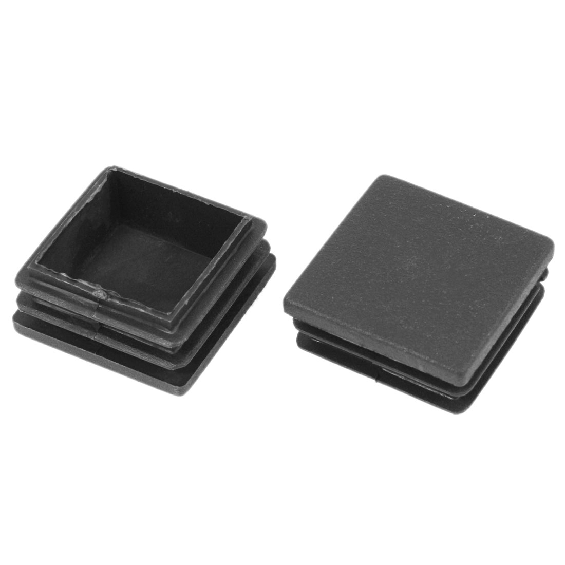 2 Pieces 39mm x 39mm Plastic Blanking End Caps Cover Square Tubing Tube Pipe Insert Black