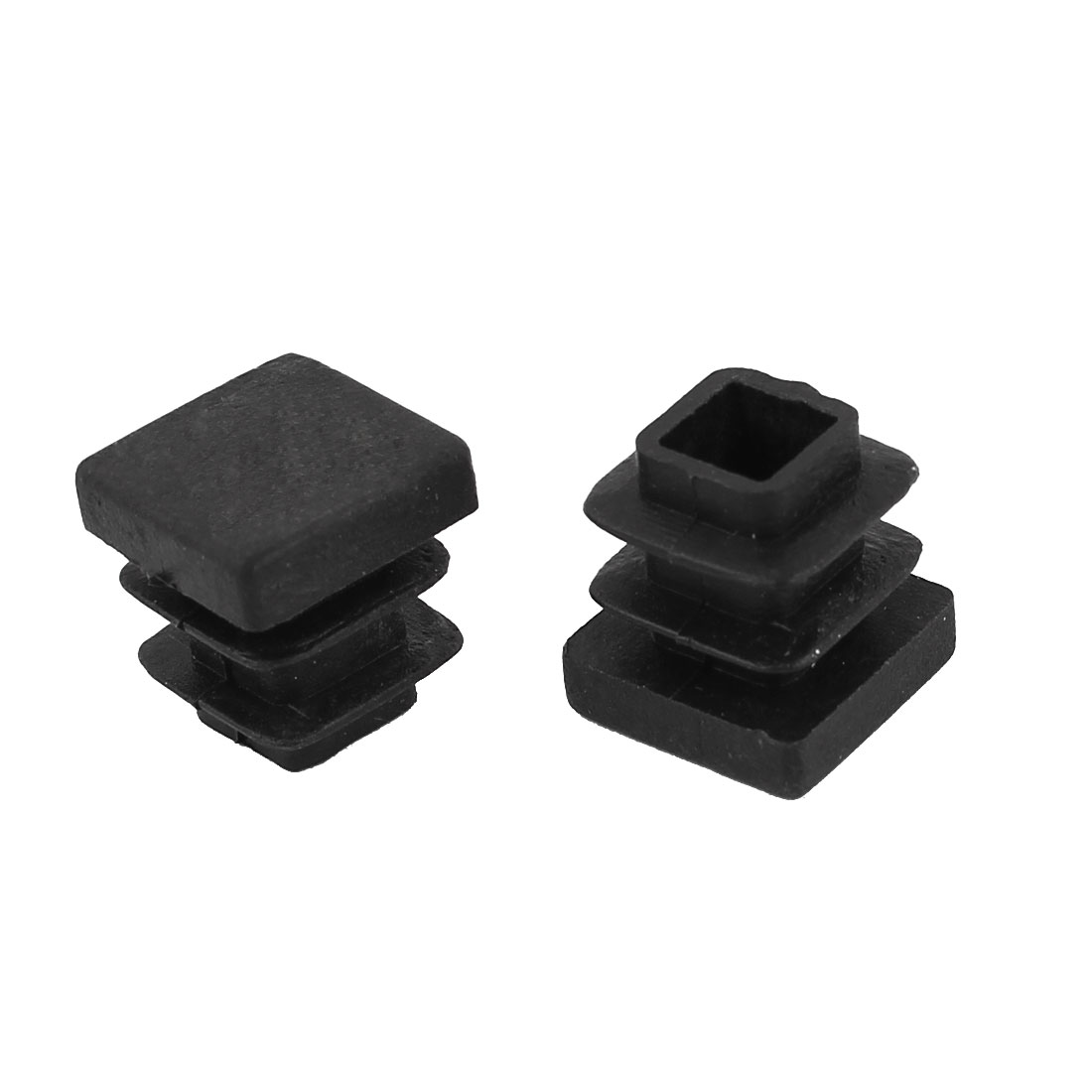 2 Pieces Black Plastic Square Blanking End Caps Tubing Tube Inserts 13mm x 13mm