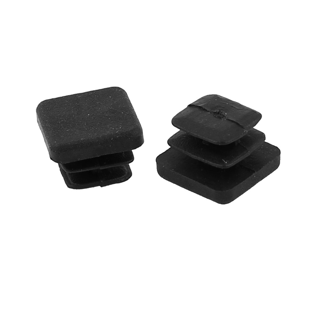 2 Pieces Black Plastic Square Blanking End Caps Tubing Tube Cover Inserts 10mm x 10mm