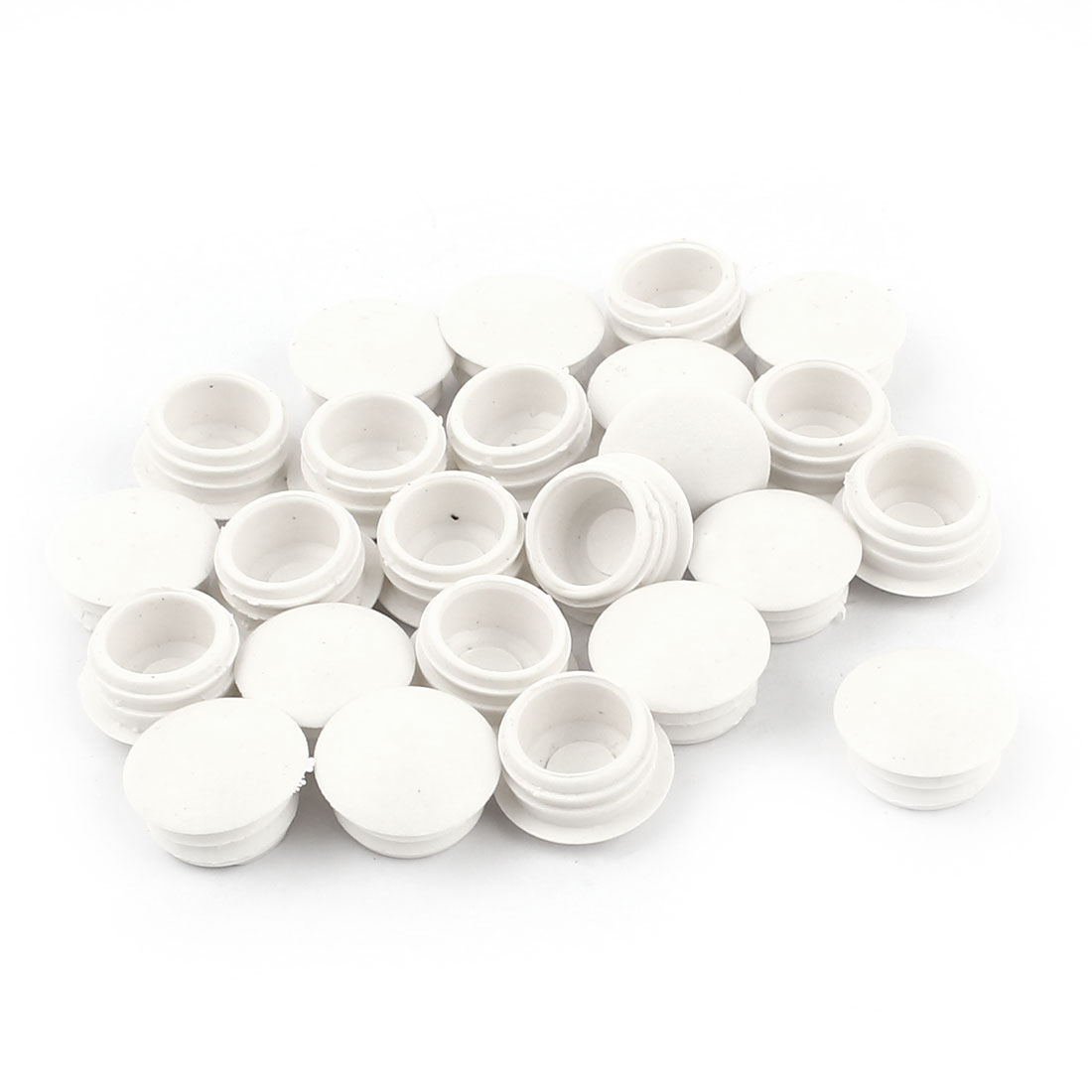 "24 Pcs 1/2"" Dia Round Plastic Blanking End Caps Tubing Tube Inserts"