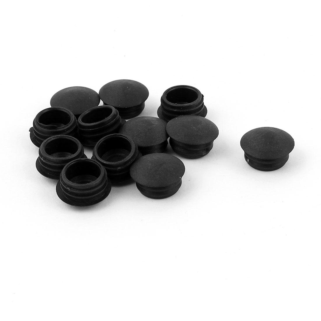 Blanking End Caps 13mm Dia Plastic Round Tubing Tube Inserts 12 Pcs