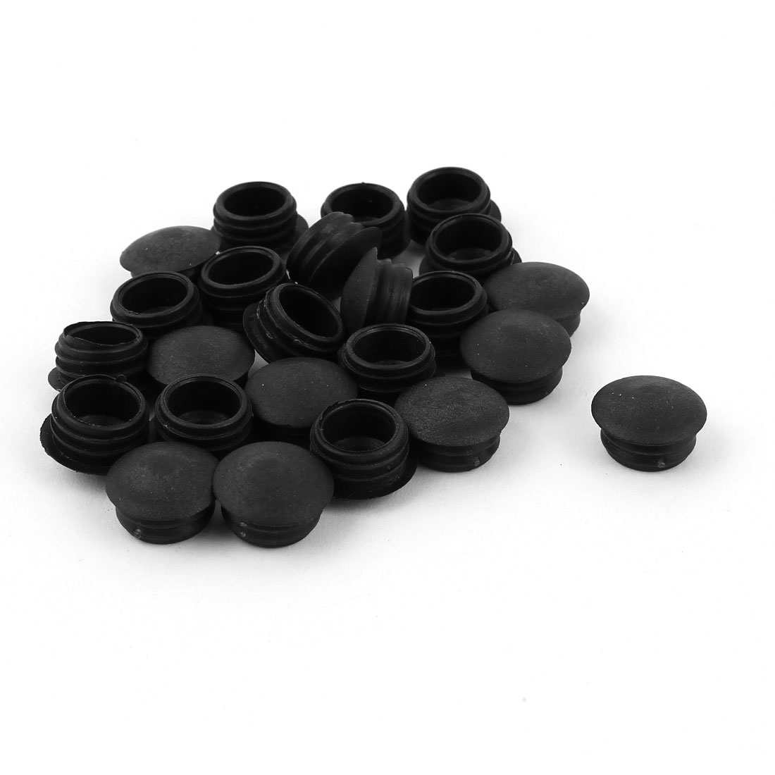 Blanking End Caps 13mm Dia Plastic Round Tubing Tube Inserts 24 Pcs