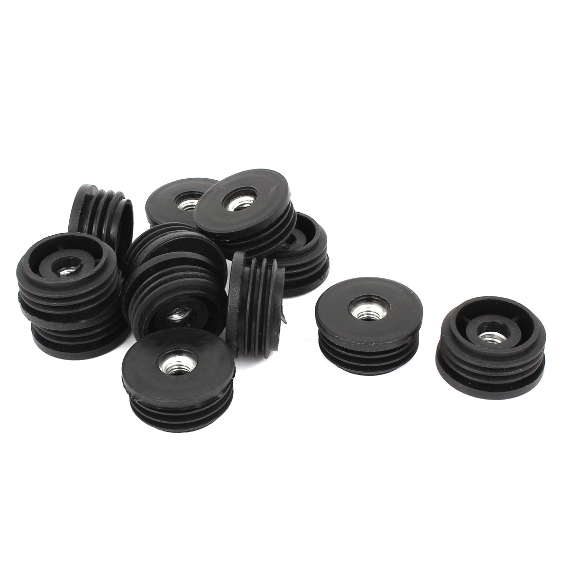 Furniture M8x32mm Screw Type Round Threaded Tube Insert Caps Covers 12 Pcs