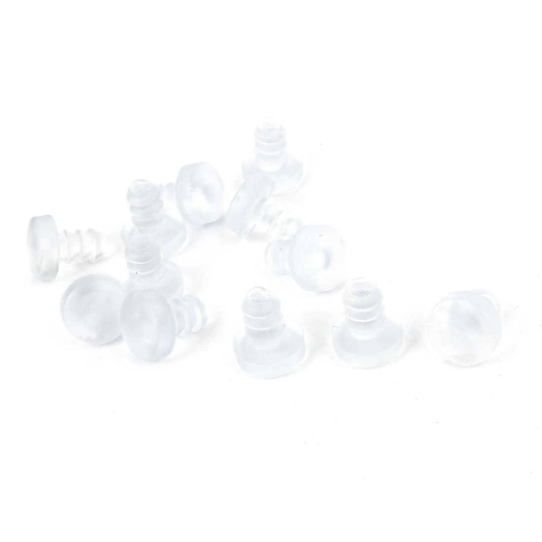 12 Pcs Light Blue Plastic Blanking End Cap Round 5mm Tubing Tube Inserts