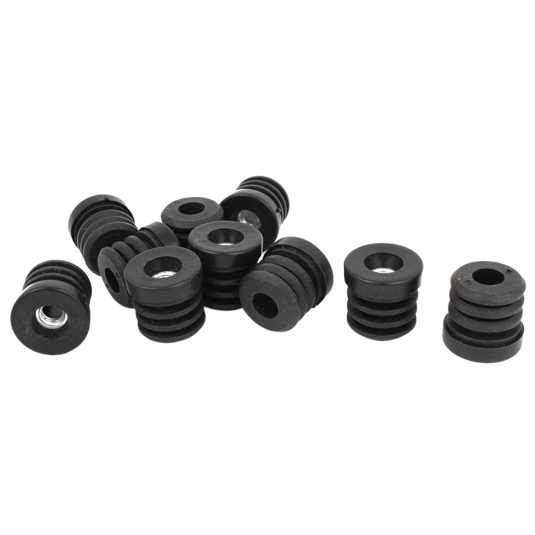 "10 Pcs M8 Threaded Insert Black for 25mm 1"" Round Box Section Tube Pipe"