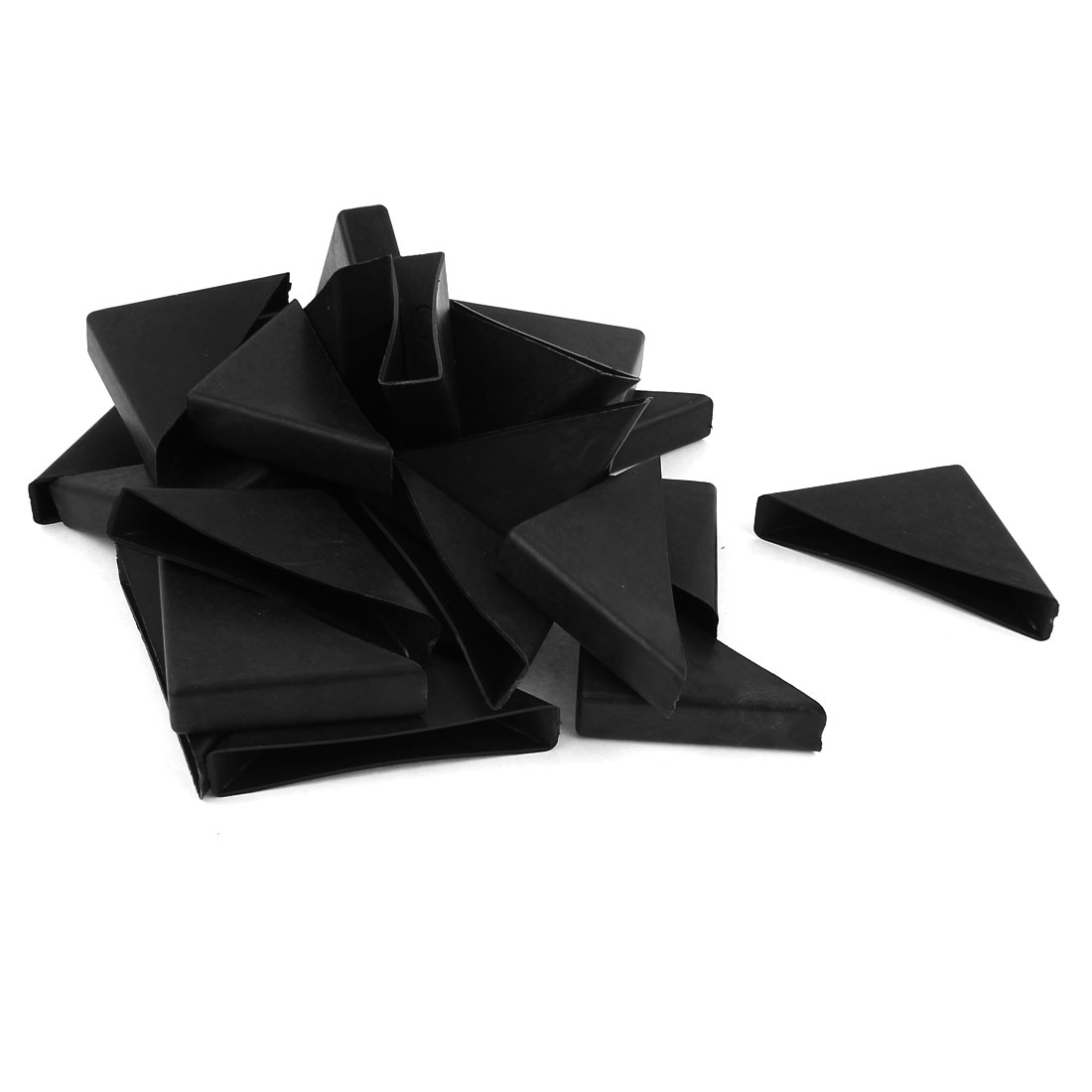 24 Pcs 12mm x 75mm Black Plastic Recessed Furniture Table Couch Corner Protectors