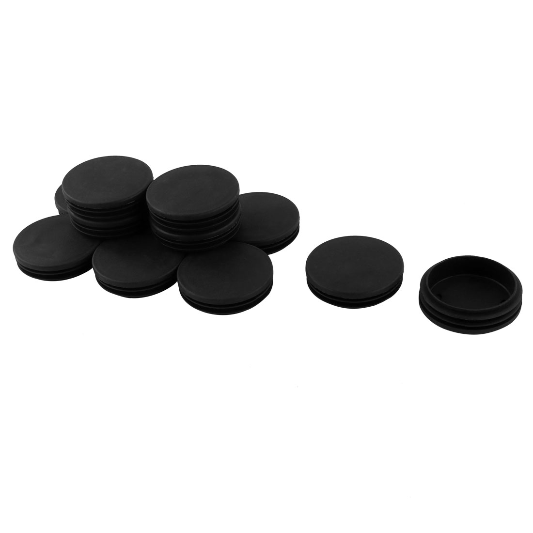 12 Pieces 70mm Diameter Black Plastic Blanking End Cap Round Tubing Tube Inserts