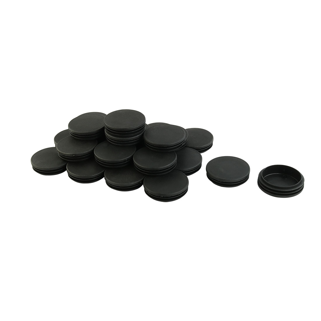 24 Pieces 70mm Diameter Black Plastic Blanking End Cap Round Tube Tube Inserts