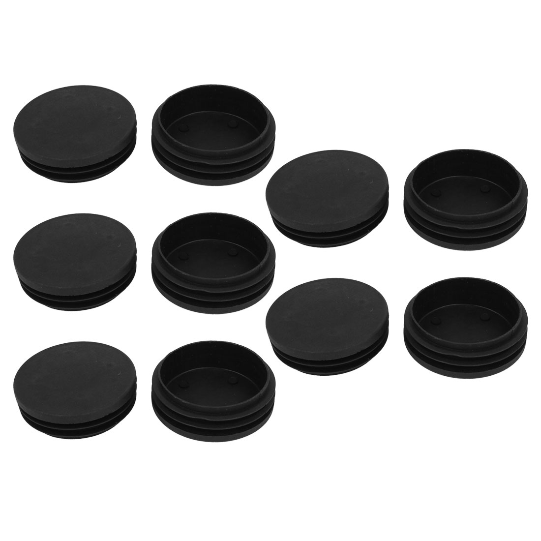10 Pcs Black 74mm Plastic Blanking End Caps Insert Bung Round Tube Insert