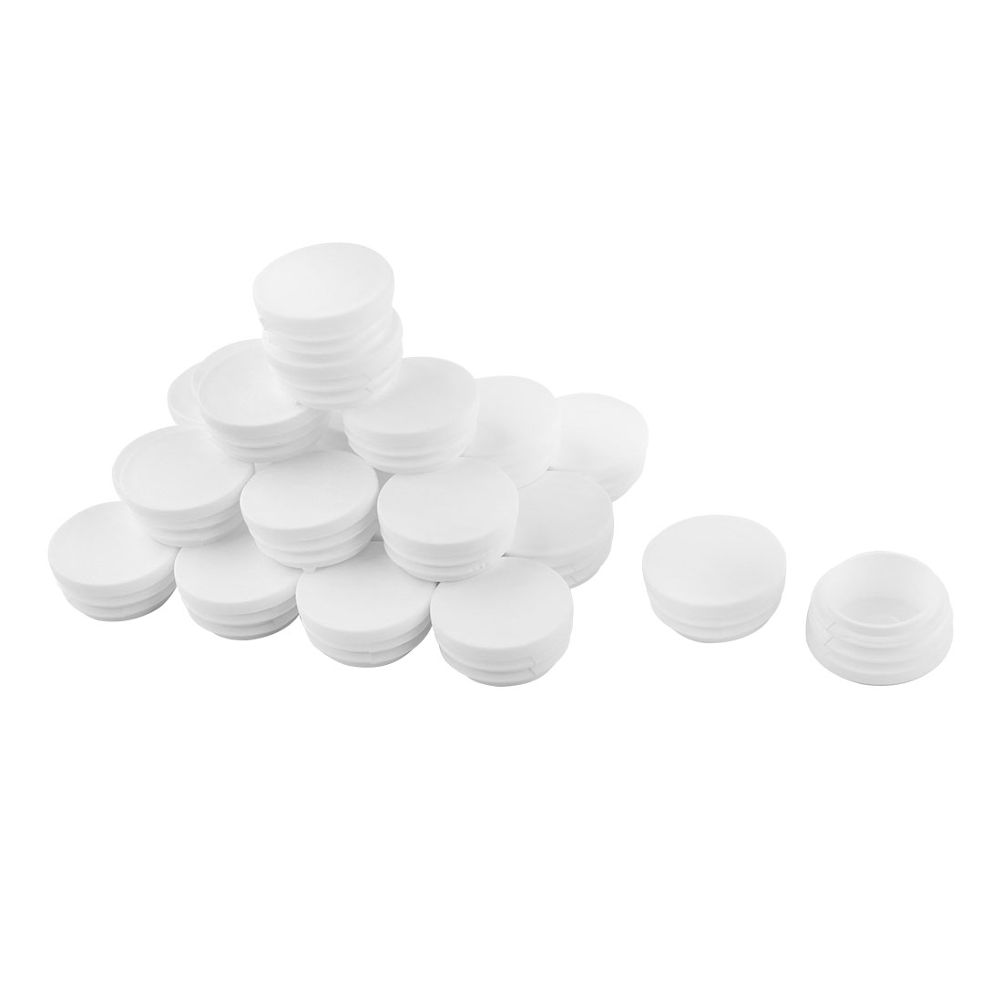 "Chair Table 1.5"" Round Plastic Blanking End Cap Tubing Tube Inserts 24 Pcs"