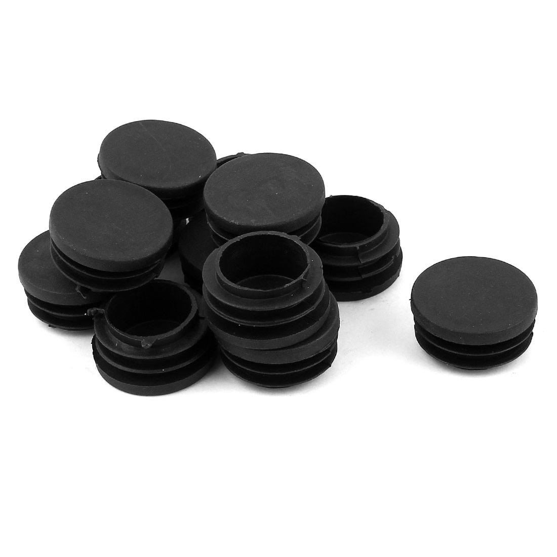 Chair Table 32mm Round Shape Plastic Blanking End Cap Tubing Tube Insert 12 Pcs
