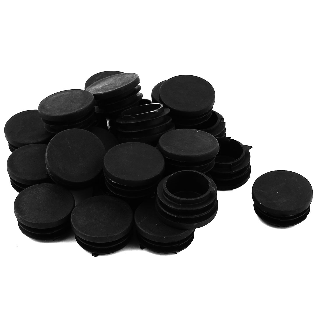 "Chair Table 1 1/4"" Round Shape Plastic Blanking End Cap Tubing Tube Insert 24Pcs"