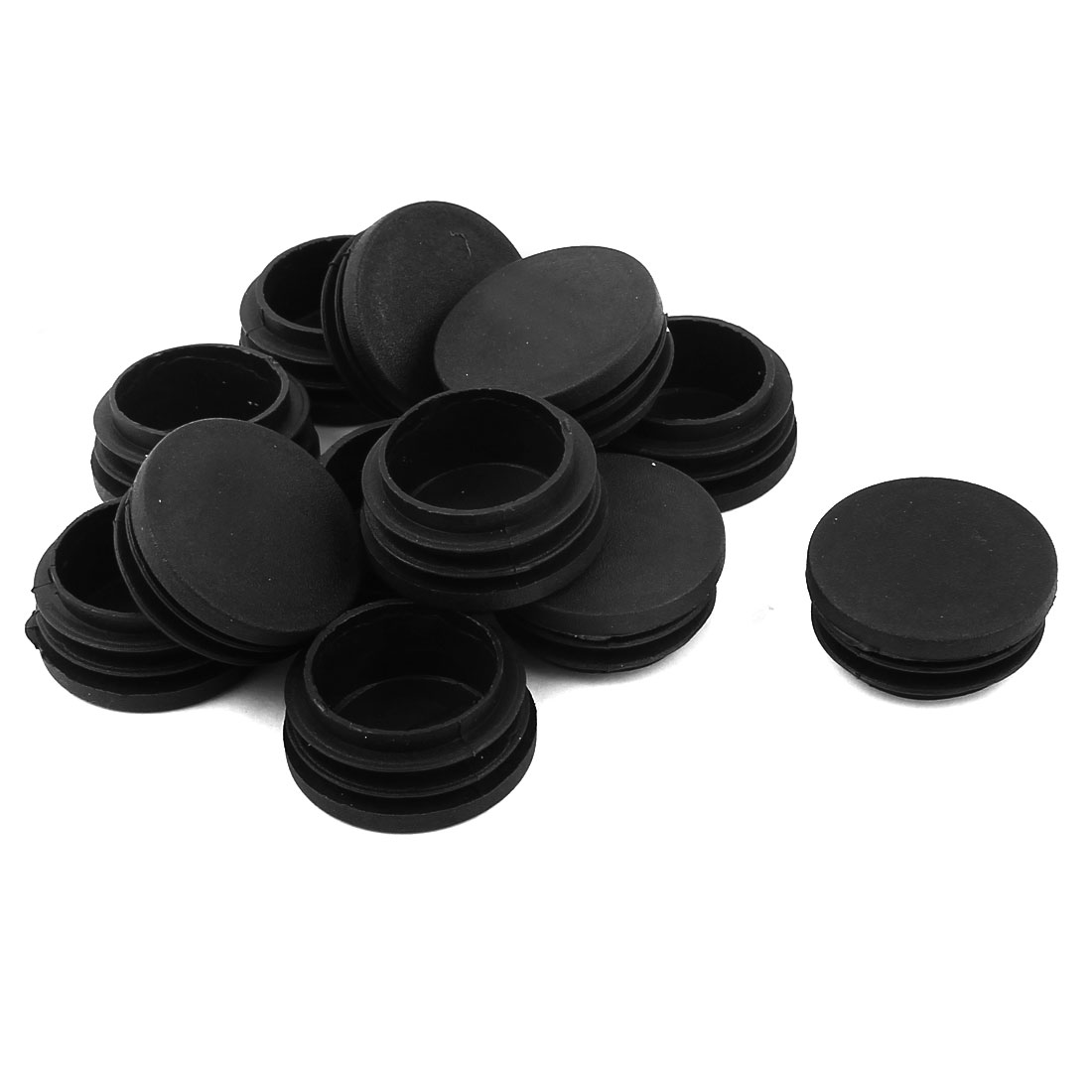 Plastic Blanking End Caps Round Tube Insert Bung Black 37mm Dia 12 Pcs