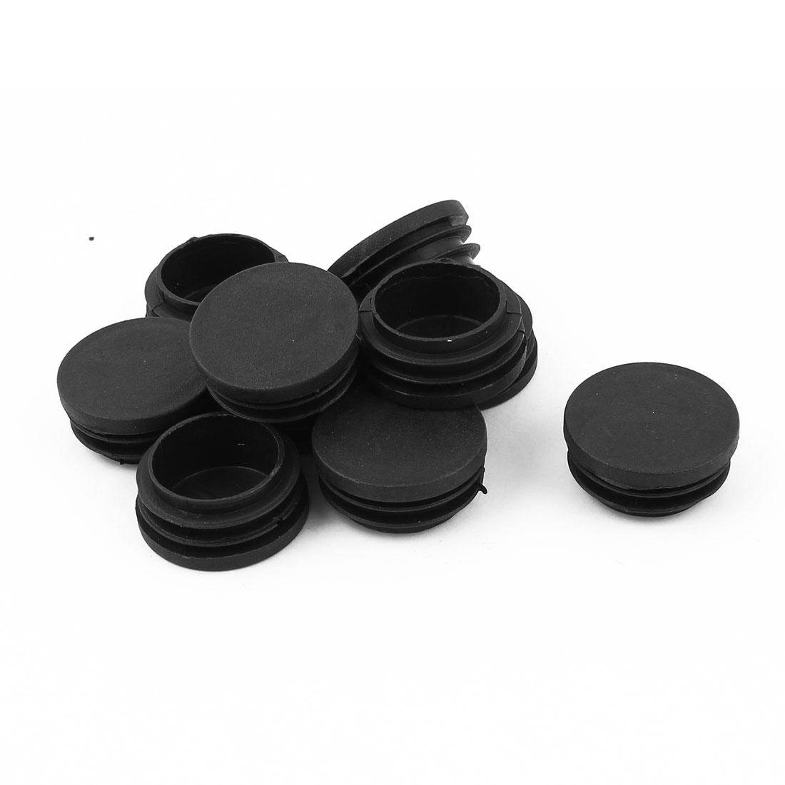 10 Pcs Plastic Blanking End Caps 38mm Round Tube Insert Bung Black